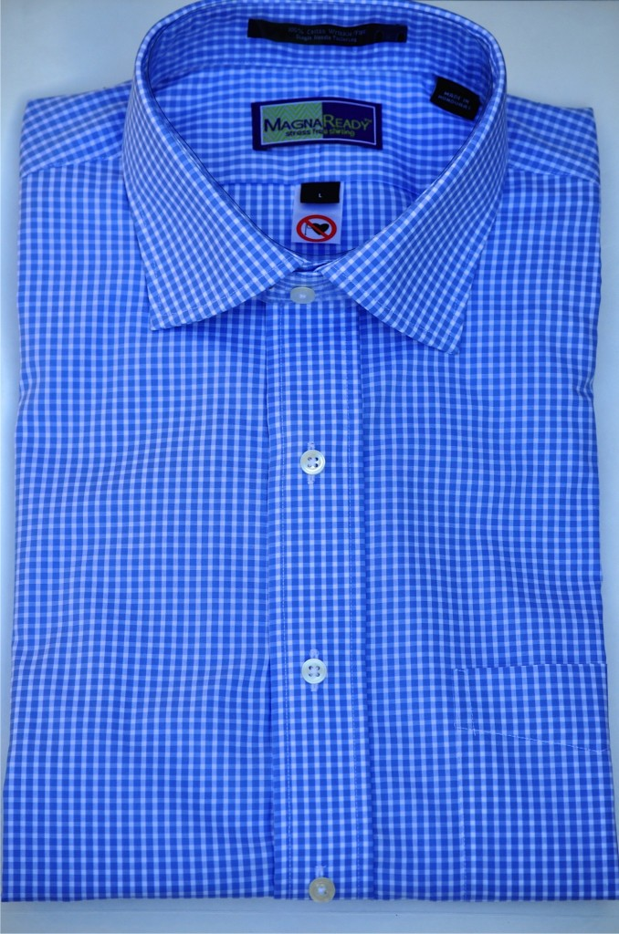 Gingham Blue Shirt Photo Courtesy of MagnaReady®