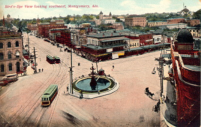 Court Square in Montgomery, Alabama, 1900 - Source: digital.archives.alabama.gov
