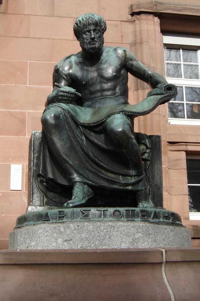 Statue of Aristotle (1915) by Cipri Adolf Bermann at the University of Freiburg im Breisgau
