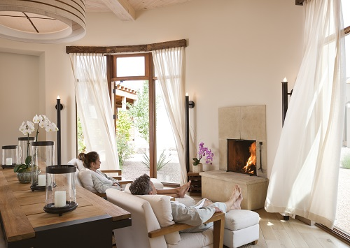 The relaxation room at the luxurious Four Seasons Santa Fe