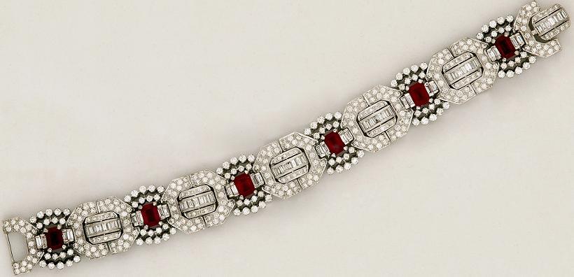 B0010 - Bracelet in Diamond & Ruby - $35,000