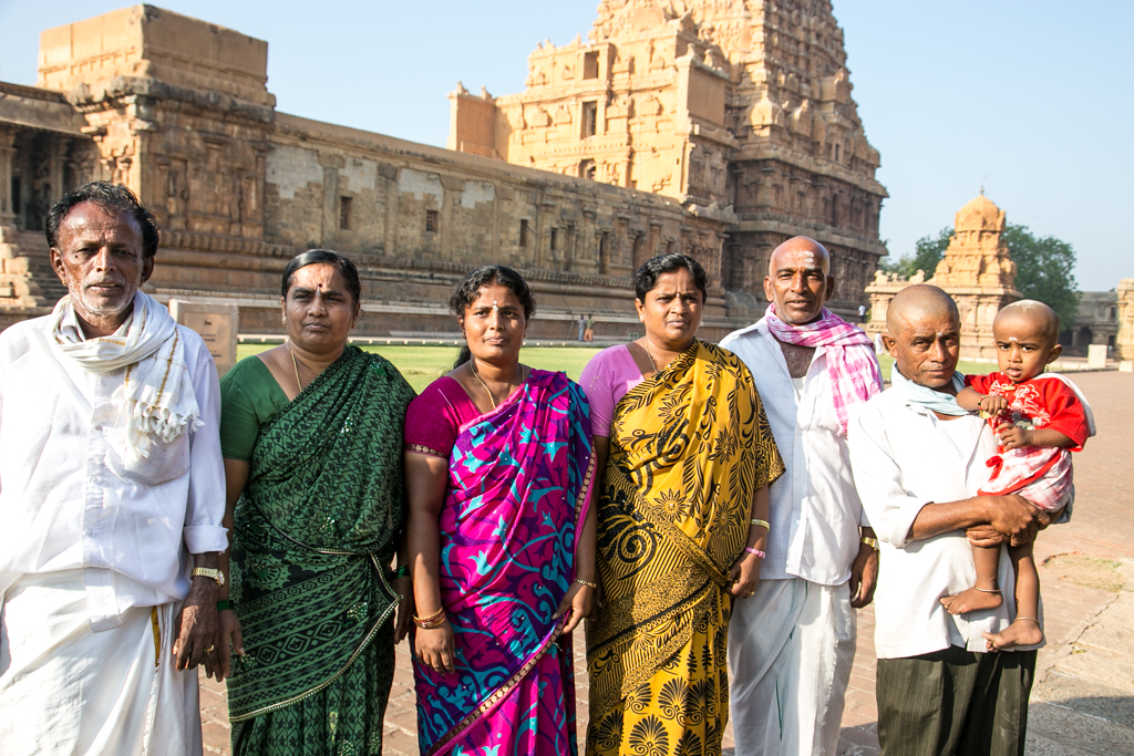 Family at the Temple