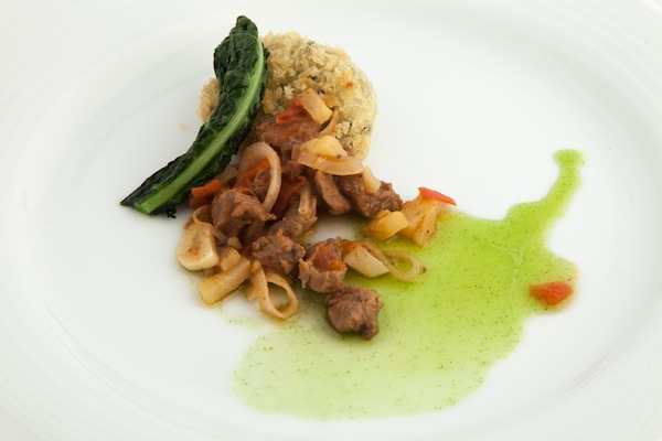 Chef Rebello's award-winning dish, courtesy of Gold Medal Plates