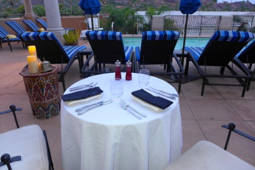 Our private dinner table on the terrace. Image Maralyn D. Hill