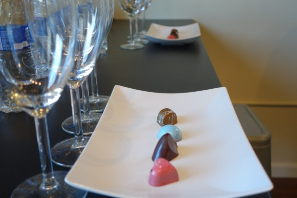 Special chocolates to be paired with wines