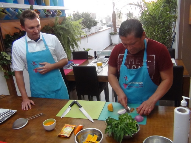 Learn local cooking in Lima, Peru.