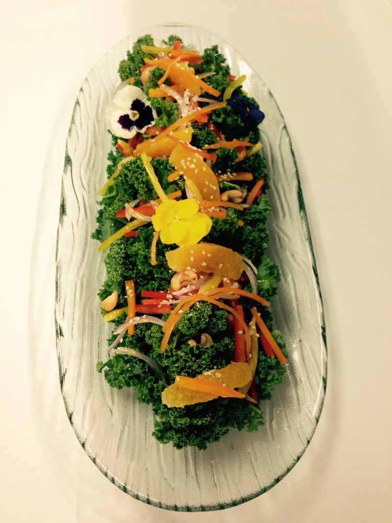 Kale Salad with Ginger Vinaigrette ©Chef Brian Lee