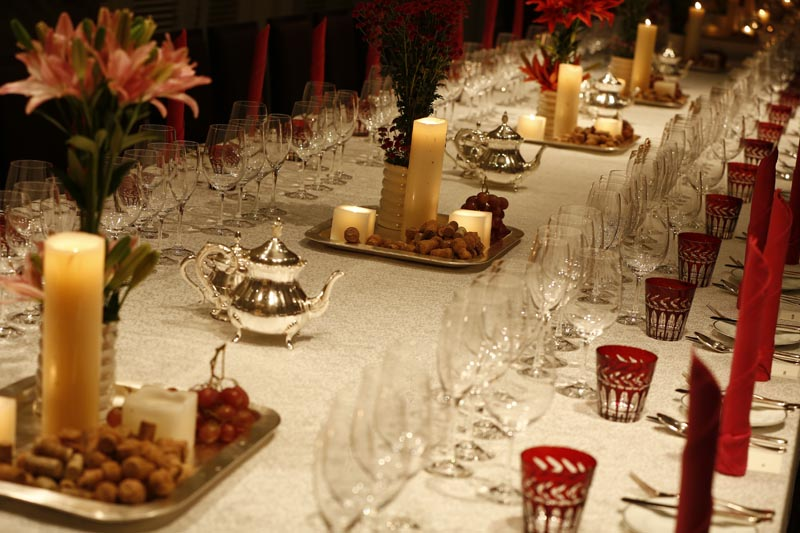 Brunello Dinner set-up