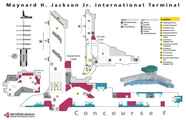 LuxeLayoversATL-Terminal F Map