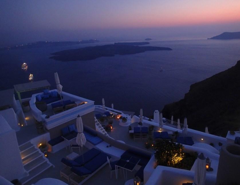 Property at Dusk - Courtesy of Iconic Santorini