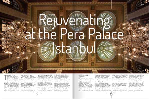 Inka's article: Rejuvenating At The Pera Palace Istanbul