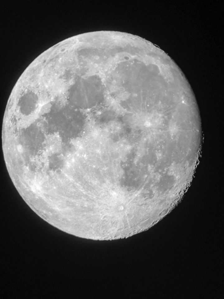 The moon as photographed in my star gazing class.