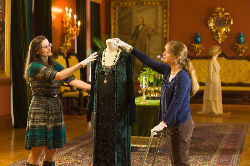 Curators at Biltmore prepare Downton Abbey fashion exhibit (Photo courtesy of The Biltmore Company.