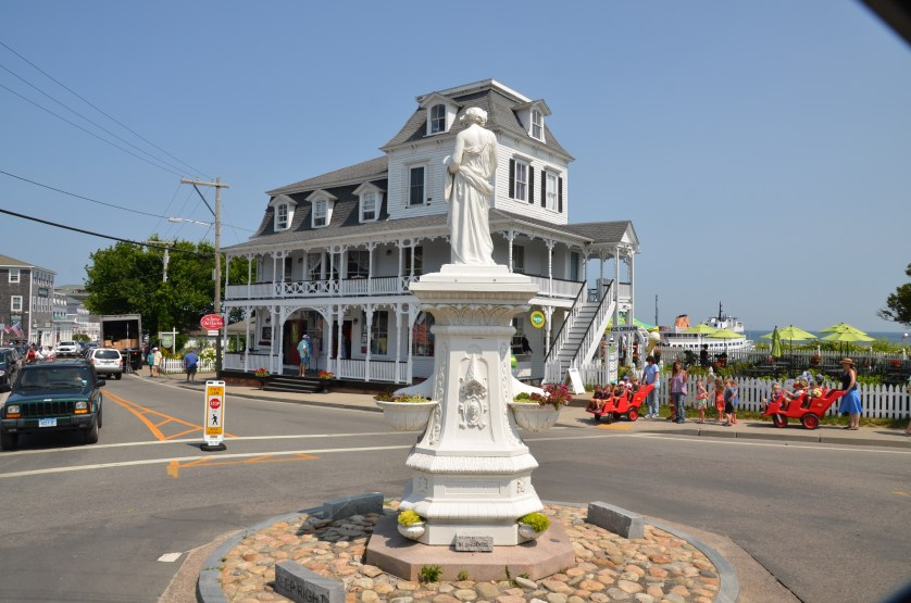 Charming downtown on Block Island.