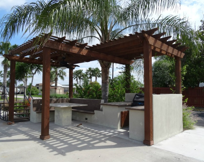 Pergola on RV site
