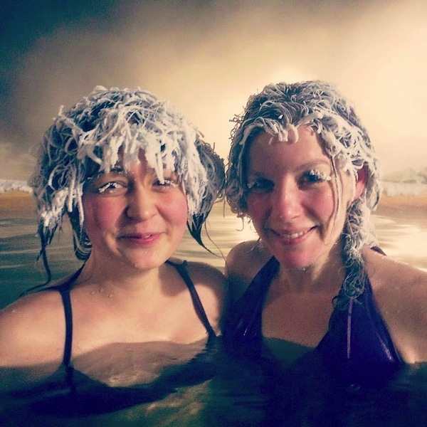 Hair Freezing Contest pic Takhini Hot Springs