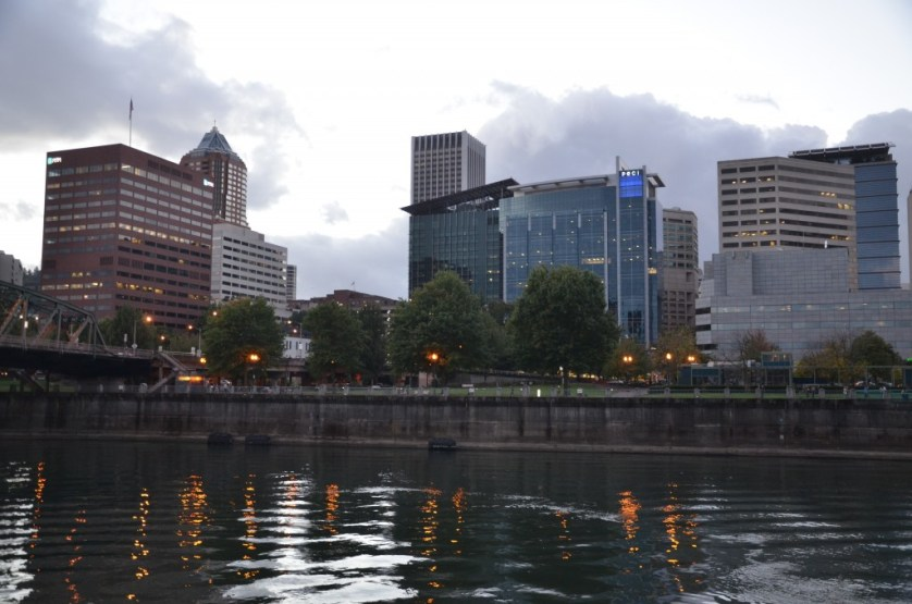 Cruising out of Portland, Oregon in the evening.