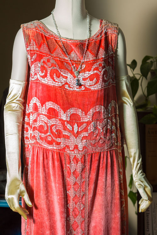 Rose's silk, & velvet evening dress (Photo courtesy The Biltmore Company).