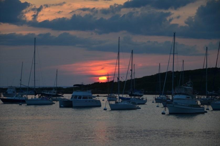 Sunset on Cuttyhunk Island.