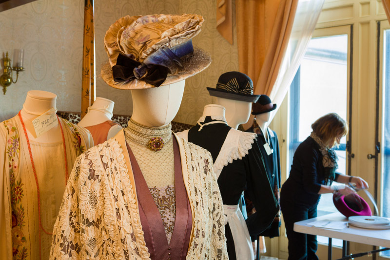 Violet Crawley's coat made of cotton ribbon lace.