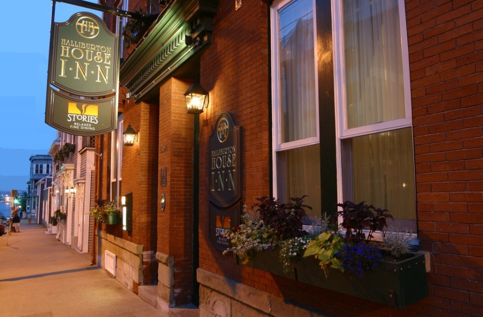 Stories Restaurant at the Haliburton House Inn.