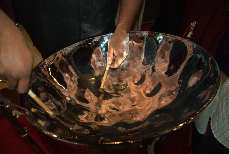 Steeldrum (steelpan) showing notes