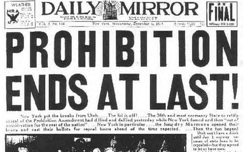 Prohibition Repealed, Image courtesy of geeknation.com