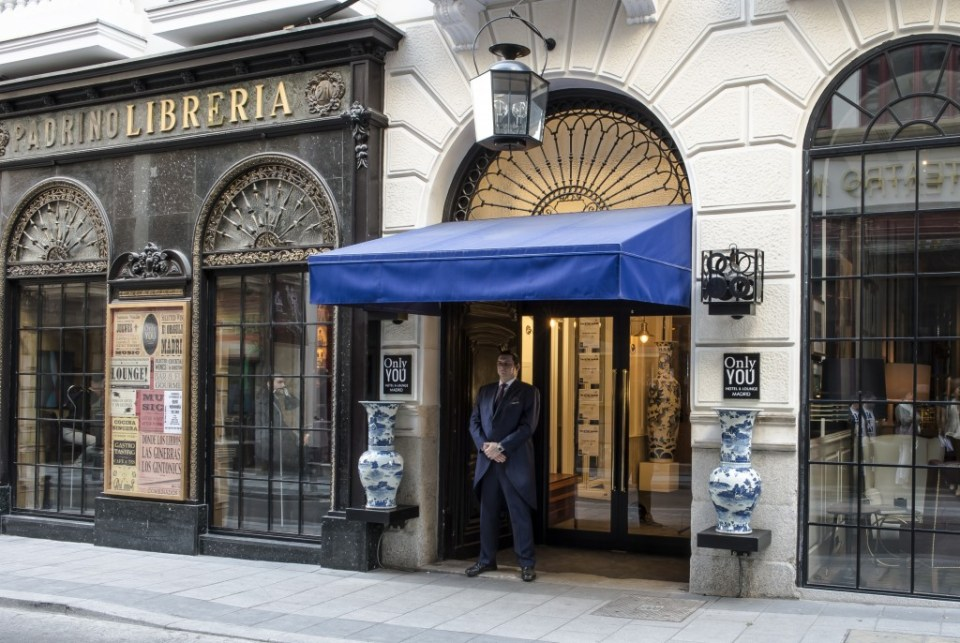 The Librería Padrino facade was kept but inside is a lively bar at Only YOU.