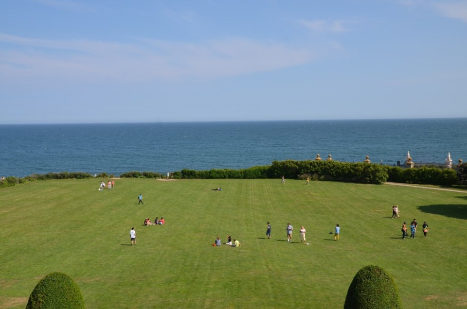 The back lawn at The Breakers.