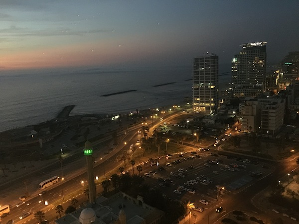 Gorgeous vew of Tel Aviv from the Intercontinental David Tel Aviv