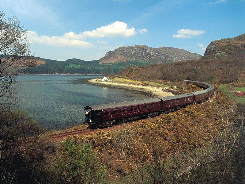 Royal Scotsman train. Photo courtesy of Belmond.