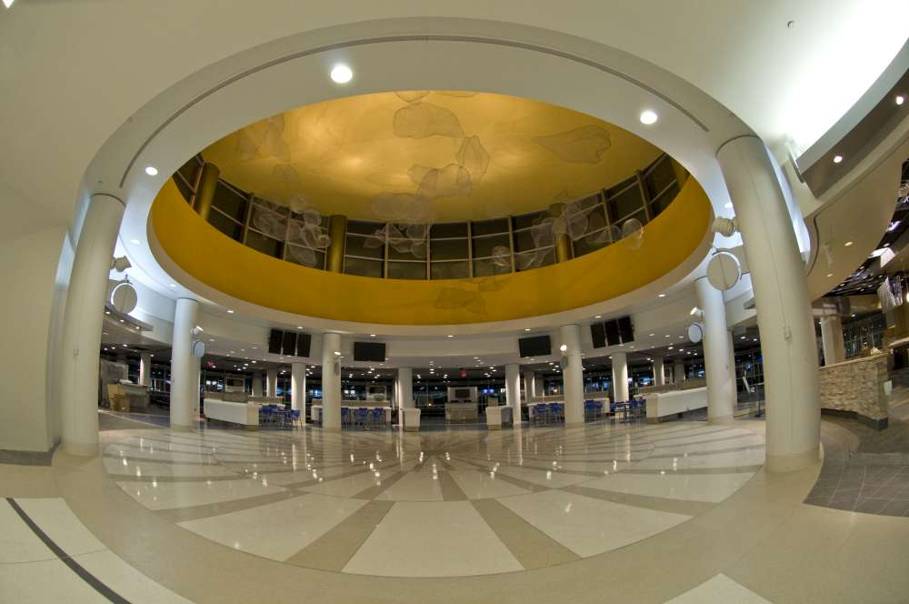 Terminal E Rotunda with Cloudsphere. Photo courtesy Philadelphia International Airport