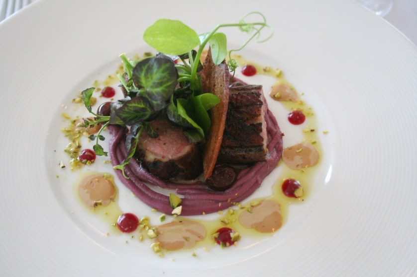 Organic duck breast and Armagnac sauce