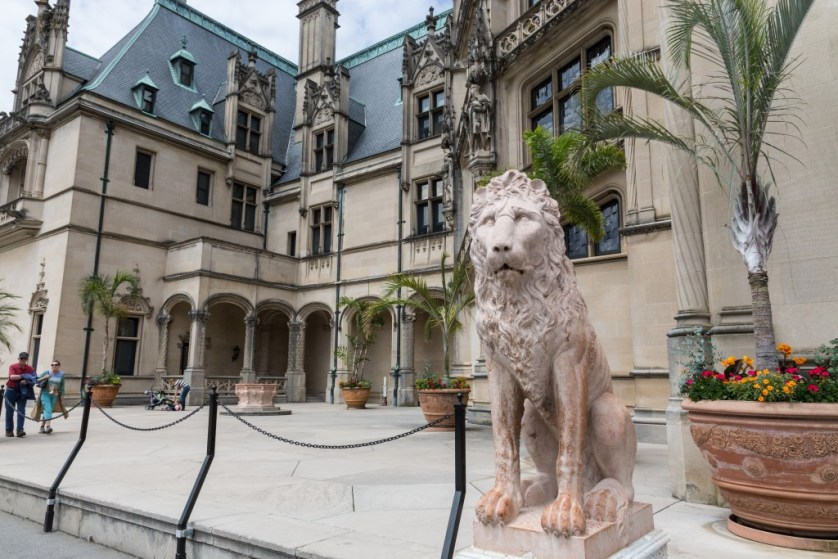 The Lion at the entrance to the Biltmore.