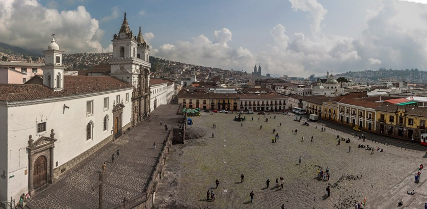 Historic Plaza San Francisco unfolds directly in front of Casa Gangotena. (photo by Eric Mohl)