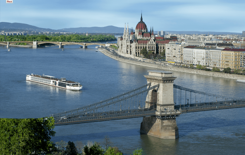 Sailing into Budapest on a Viking River Cruise