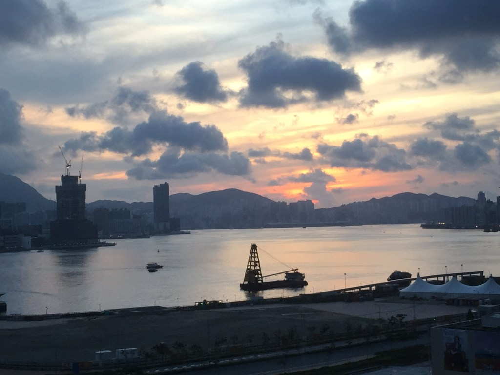 Sunrise in Hong Kong Mandarin Oriental