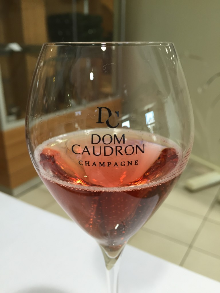 A tasting of Dom Caudron's Fascinante. Photo by Susan Lanier-Graham