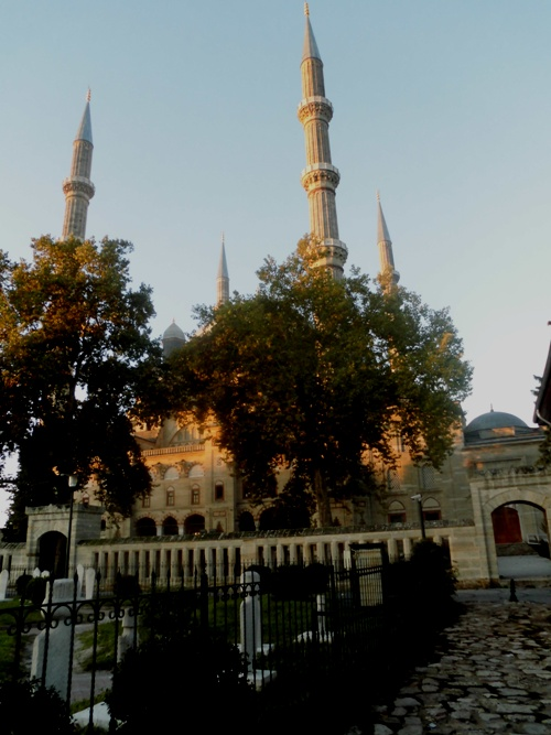 Sulimiye Mosque at sunrise