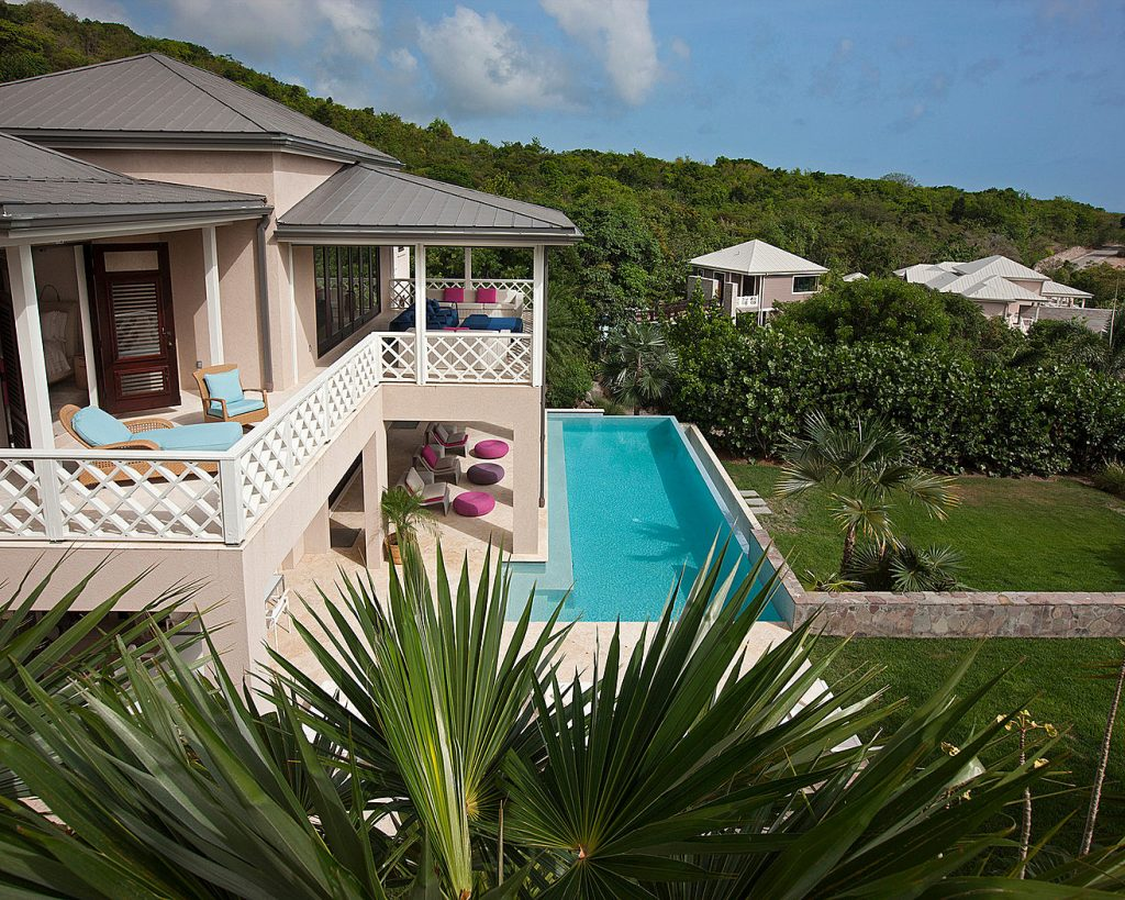 One of the gorgeous villas for rent at the Four Seasons Nevis