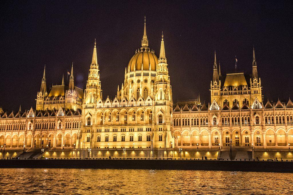 Parliament illuminated at night