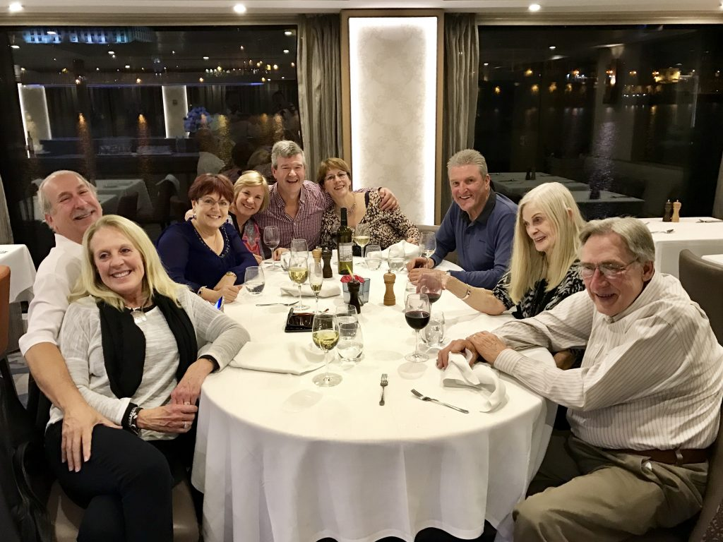 Dinnertime is fun time on a Viking cruise.