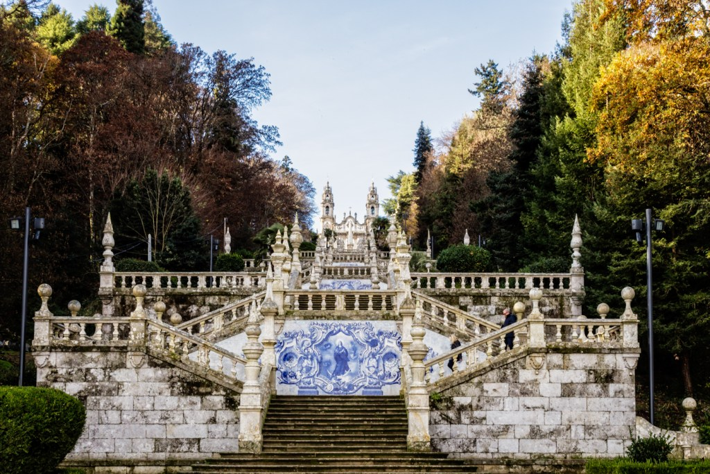Our Lady of Remedies Chapel in Lamego, Portugal.