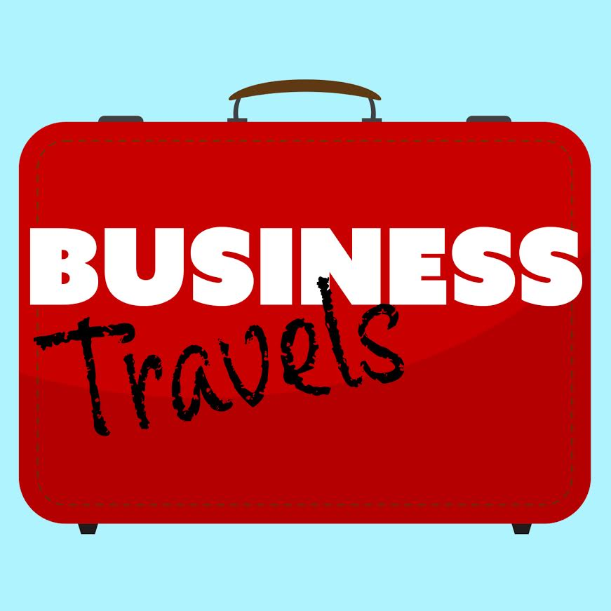 Business Travels Radio Show Logo with Hosts Sherrie Wilkolaski and Maralyn D Hill