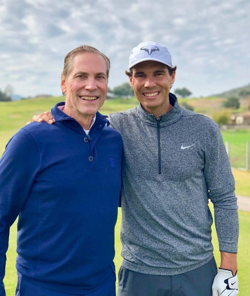 Philip White, chief executive officer, Sotheby's International Realty Affiliates LLC with Rafa Nadal