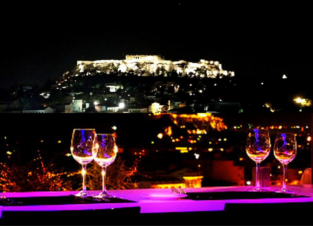 Athens Night Sightseeing Tour with Greek Dinner Show