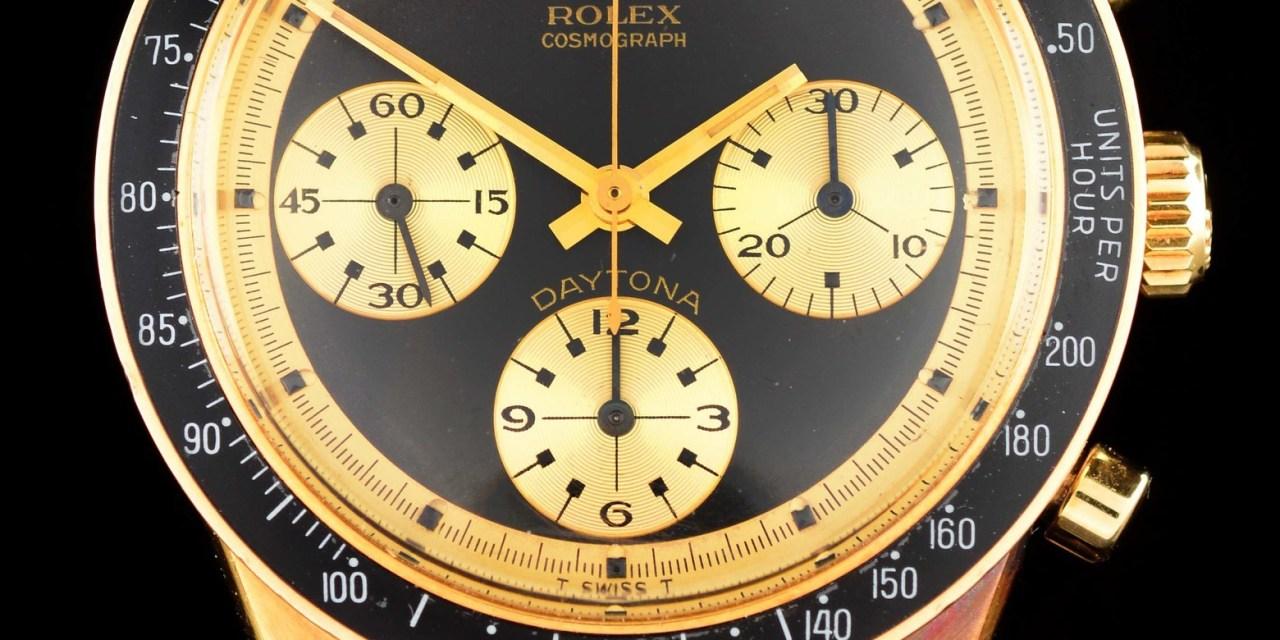Morphy's to Auction Tiffany Lamps, Rolex 'Paul Newman' Daytona John Player Special Wristwatch, Rare European Cameo Glass, Dec. 5-6
