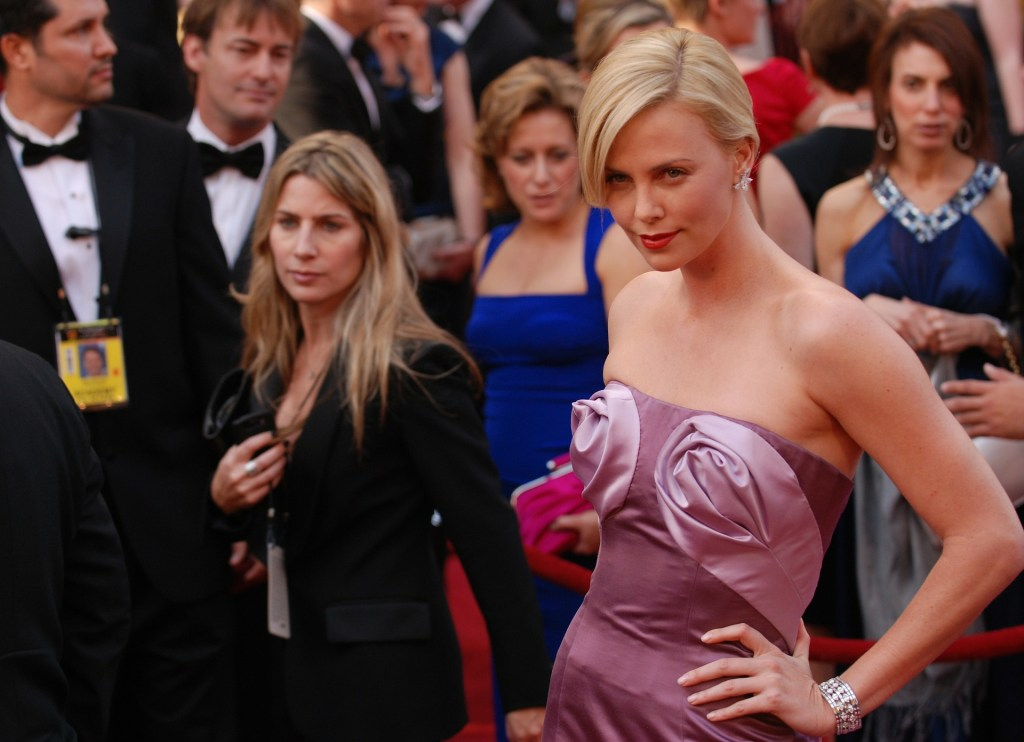 charlize theron achieving a celebrity look