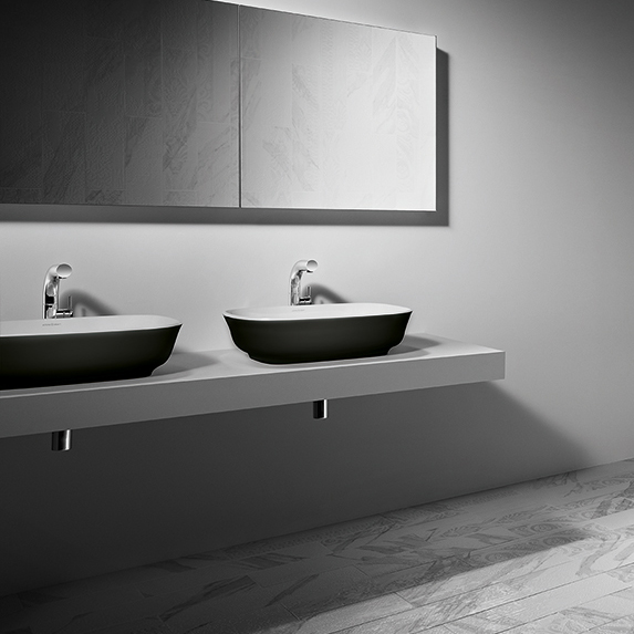 Josh And Charlotteu0027s Master Ensuite Features The Matte Black Amiata Basin  By Luxe By Design And