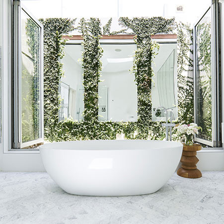 Victoria + Albert Barcelona stone bath - distributed in Australia by Luxe by design, Brisbane.
